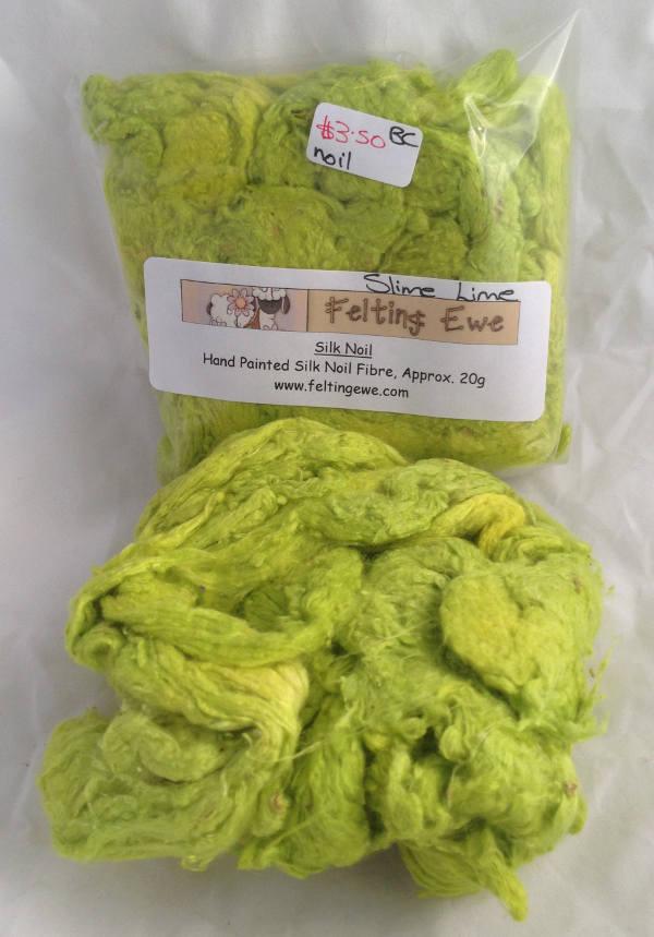 Slime Lime Silk Noils
