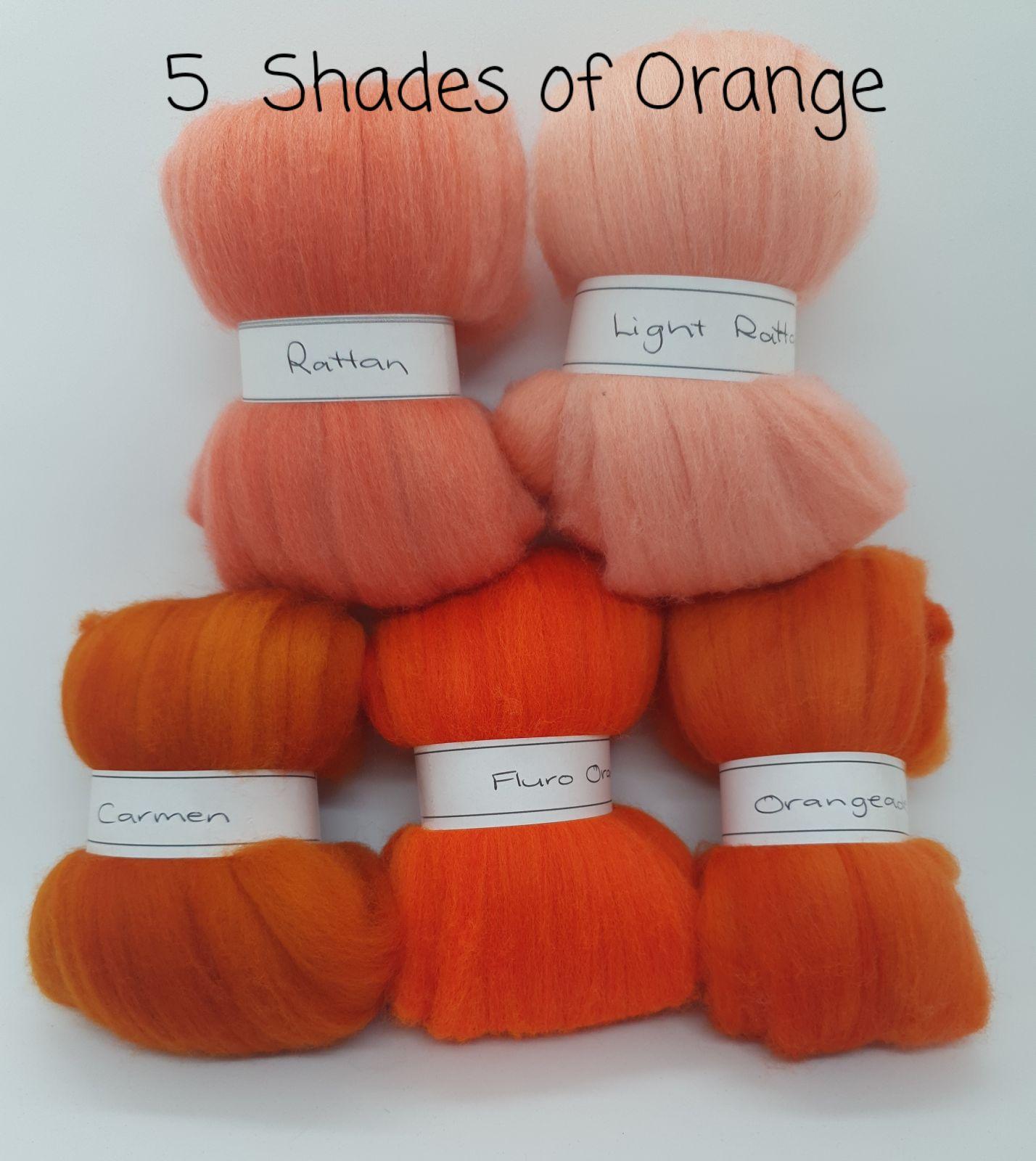 5 Shades of Orange