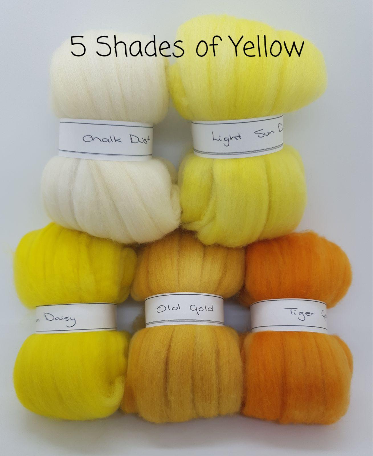 5 Shades of Yellow